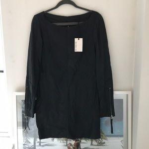 Tiger of Sweden Women's black leather dress